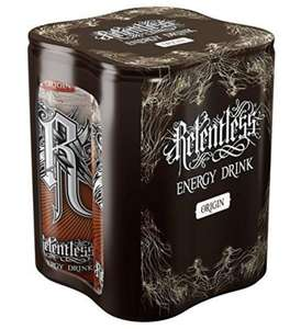 x4 cans of 250ml Relentless energy drink 99p @ Heron Foods