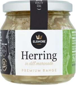 Elsinore Herrings in Dill Marinade (275g) was £2.29 now £1.14 @ Ocado