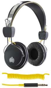 Ministry Of Sound 004 Headphones - Wired On Ear (Black/Yellow or Silver/Black) - £6.49 - Student Computers