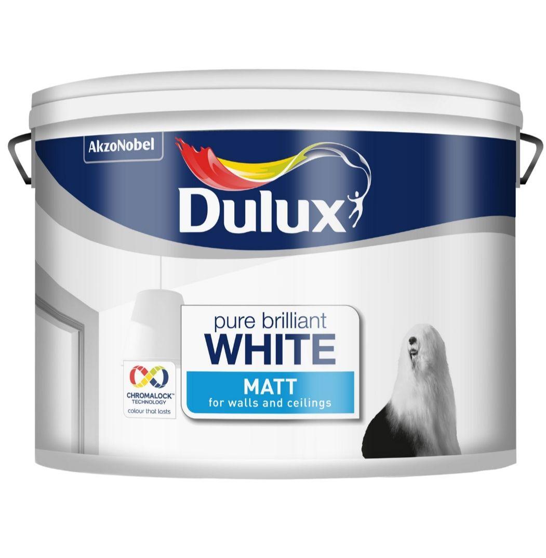 Dulux Pure Brilliant White - Matt Emulsion Paint - 10L - £20 @ Homebase