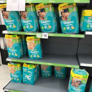 Pampers Baby Dry nappies Giga Pack in Asda - £10