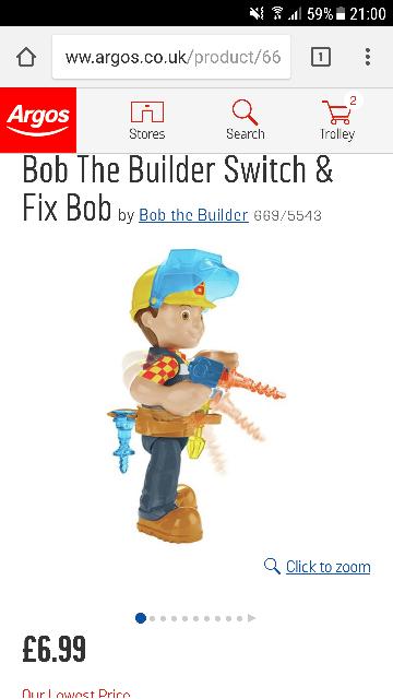Bob the Builder Switch and Fix £6.99 @ Argos (C&C)