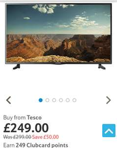 Blaupunkt 43 Inch Full HD LED TV with built-in JBL Sound System £249.99 @ Tesco direct + free delivery (£224.99 with code)