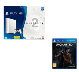 Glacier White PS4 Pro Destiny 2 Game and Expansion Pass Bundle + Uncharted: The Lost Legacy​ + NOW TV 2 Months Entertainment Pass £349.99 @ Game
