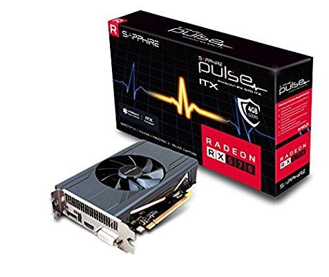 SAPPHIRE Radeon RX 570 PULSE ITX 4 GB GDDR5 DP/HDMI/DVI-D Graphics Card - pre-order - £156.61 @ Amazon