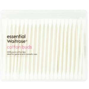 Essential Waitrose Cotton Buds 45p /200s, was 90p # Let's do something for our planet