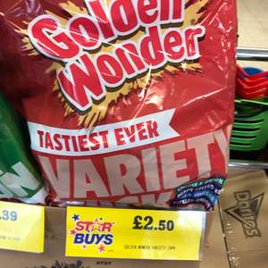 Golden Wonder 24 Variety Pack Crisps £2.50 in Home Bargains