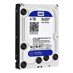 WD Blue 4TB Desktop Hard Disk Drive - 5400 RPM SATA 6 Gb/s 64MB £98.97 @ Amazon