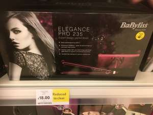BaByliss 2198KU elegance pro 235 £18 @ Tesco extra -  Broadstairs/Westwood cross
