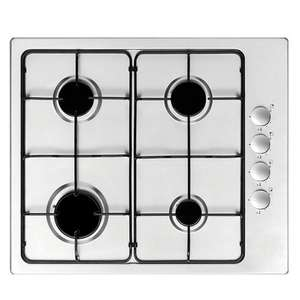 COOKE & LEWIS 4 Burner Stainless  Steel  Gas Hob @ B&Q £68.00 Click & Collect