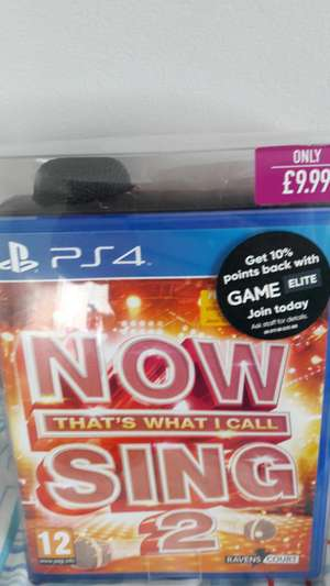 Now that's what I call sing 2 with microphone pack PS4 only £9.99 @ Game