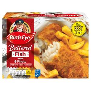 Birds Eye 6 Battered Fish (Alaska Pollock Fillets (49%) (600g) ONLY £2.84 @ Morrisons