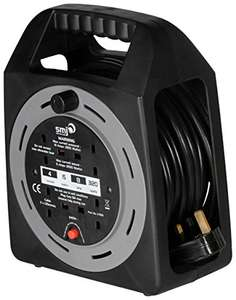 SMJ CT1513 Cable Reel extension: 4-socket, 15-meter, 13A with Thermal Cut-Out = only £7.49 with Prime (£12.24 non Prime) @ Amazon