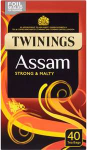 Twinings Assam Tea Bags (40) One packet for £3.00 or two (80 Tea Bags) for £4.50 @ Morrisons