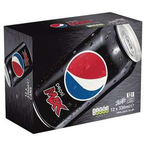 Pepsi Max 12 x 330ml £3 (£0.08/100ml) @ Tesco