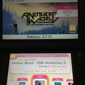 Another world 3ds Nintendo eshop 1.43