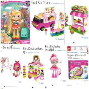 SHOPKINS at Argos - a range of toys at 20% or 25% off - see details for individual links