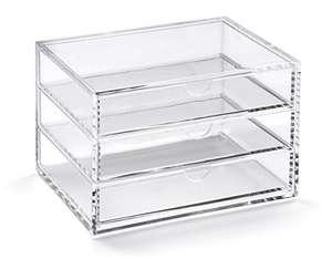 OSCO Acrylic 3 Drawer Chest (normally 12.99) £5.99 Prime / £10.74 Non Prime @ Amazon