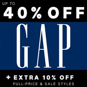 40% off + Extra 10% off @ GAP