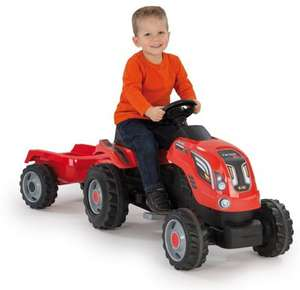 Smoby Tractor with trailer £39 (C+C) £42 (Delivered) using code @ Tesco Direct