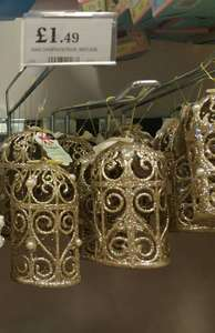 Pretty gold birdcage christmas tree decorations. £1.49 @ Home Bargains Great Yarmouth