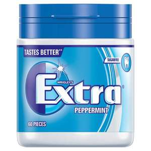 WRIGLEY'S EXTRA PEPPERMINT CHEWING GUM 60 PIECES £1 @ Poundstretcher instore