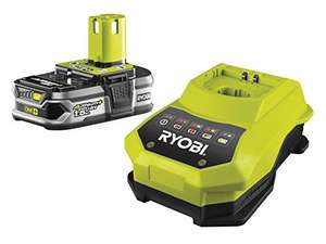Ryobi RBC18L15 ONE+ 1.5 Ah Lithium Plus Battery and One Hour Charger (18 V) (rrp £79.99) now £44.99 @ Amazon