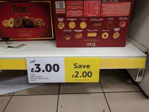 FOXS Fabulously Biscuit Selection 600g, reduced to £3 from £5 @ Tesco Balham