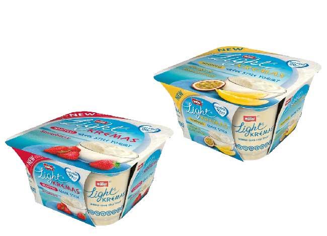 4 Müller Light Kremas Whipped Greek Style Yoghurts - £1.00 @ Morrisons