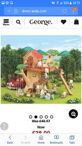 Sylvanian families tree house now £28 at asda George free c&c