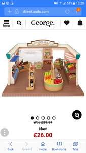 Sylvanian families supermarket £26 at asda George free c&c more Sylvanian deals in comments