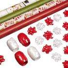 Merry Christmas Premium Gift Wrap Set - Was £5 Now £2.95 @ John Lewis [Free Delivery!]