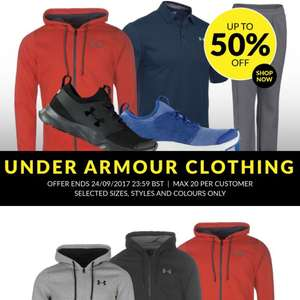Lots of Under Armour stuff on discount UpTo 50% off SportsDirect