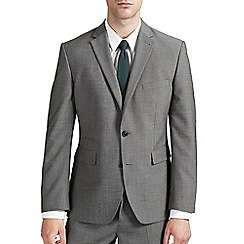 Burton Tailored fit grey textured suit jacket £15 / £18.49 delivered @ Debenhams