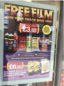 McColl's Snack Deal - 1*2Ltr Drink + 1* Crisps or Popcorn + 1* Sweets Pouch for £3.50 and Get £3.50 to Spend on Google Play or Amazon (Movie Rentals)