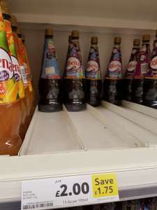 Ribena - 1.5l - Normal or Sugar-Free - £2 (was £3.75) @ Tesco