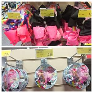 Jojo Siwa bows £7.99 for 2 pack or £2.99 for 2 pack blind bag in B&M