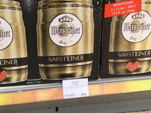 Warsteiner Mini Keg 2 x 5litre £16 in Waitrose