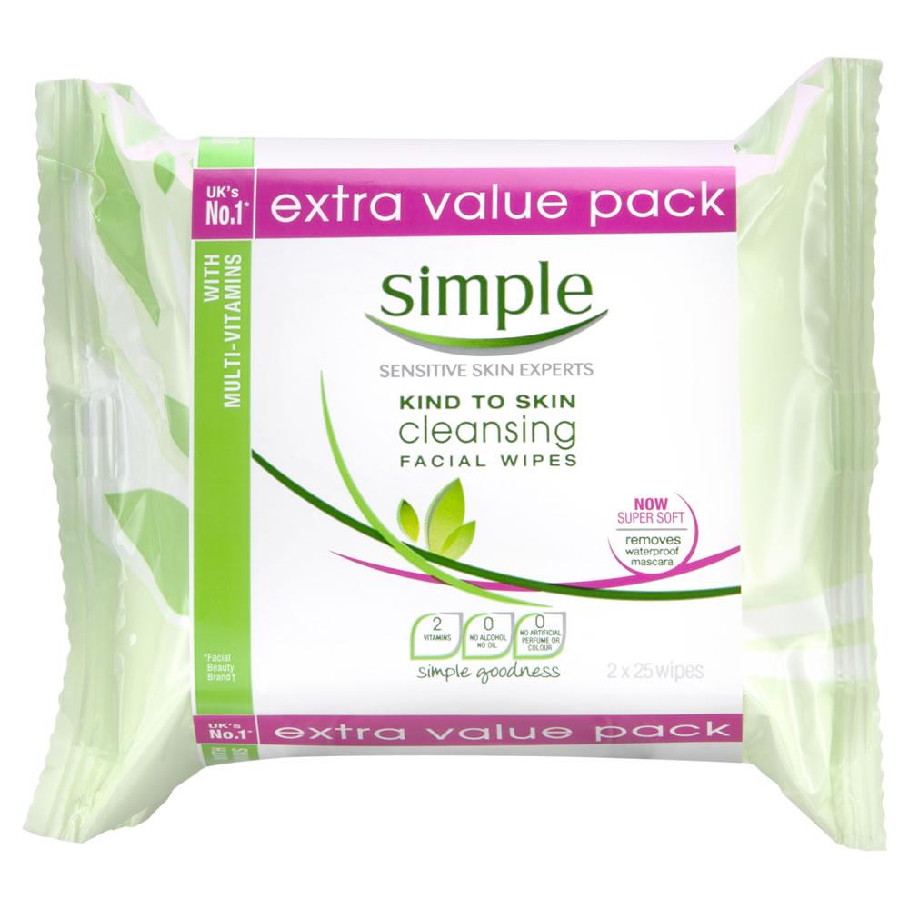 Simple Wipes 2x25pk £3 @ Wilko.