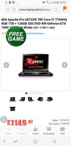 Best 17' Gaming Laptop (For price!!)  £1149 @ Laptops direct