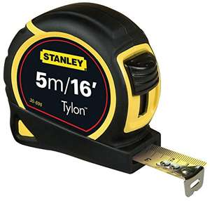 Stanley STA030696 Pocket Tylon Tape, 5 m/16 feet prime £2 (Add On) @ AMAZON