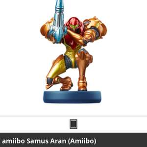 Amiibo samus returns £14.99 @ Game