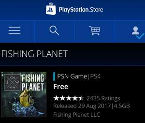 Free PS4 game Fishing Planet