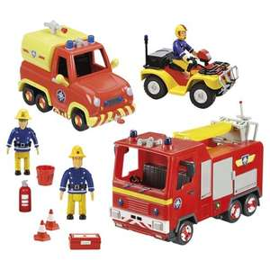 Fireman Sam Emergency Vehicle Playset was £40 now £20 C+C @ Tesco Direct