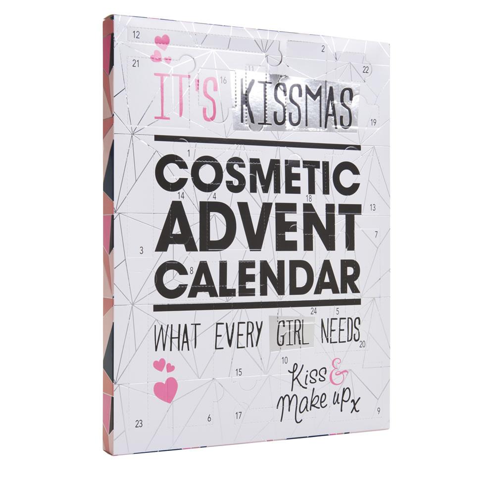It's Kissmas 24 Door Cosmetic Advent Calendar £5 instore & online for C+C @ Wilko (also Santa Themed Wilko Blox Advent Calendar £8 (lego compatible)