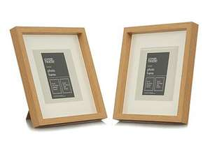 Natural or Black Boxed Photo Frame-6 x 6 Inch (2 Pack) for 70p @ George (Free C&C)