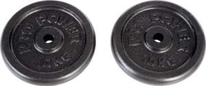 2x 10kg cast Iron Weight plates & Free delivery £20.99 @ Argos / Ebay