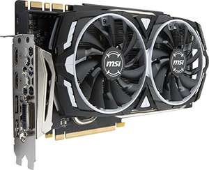 MSI GTX 1080 TI ARMOR 11G OC Video Graphic Card £670.97 sold by Amazon US