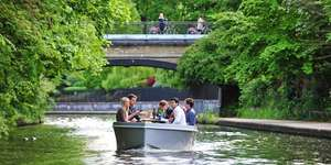 London canals: 2-hour self-drive boat hire from as little as £6.18pp w/code (Based on 8 people) @ Travelzoo