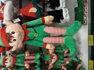 Giant elves instore at Home Bargains for £19.99